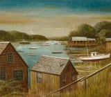 20th Century Harbor Painting