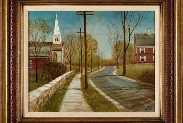 20th Century Rural Road Scene