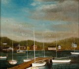20th Century Harbor Town Scene