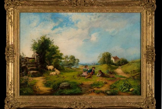 Children Playing in a Landscape