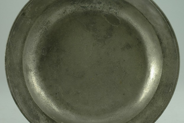 English Antique Pewter Charger