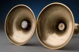 Bottom of a Pair of English Brass Candlesticks