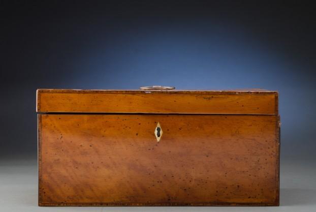 Antique English Satinwood Box