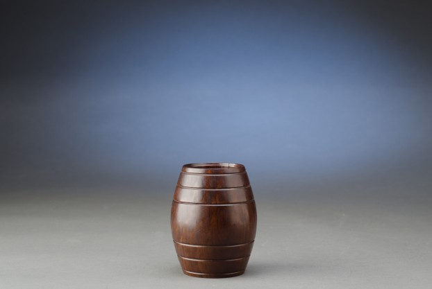 Barrel Shaped Antique Tobacco Box