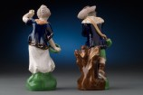 Pair of Staffordshire Figures Back