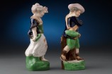 Pair of Staffordshire Figures Side