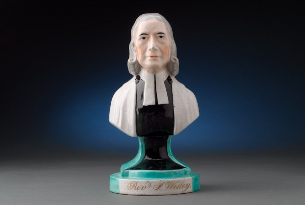 Staffordshire Pottery Bust of Rev. John Wesley