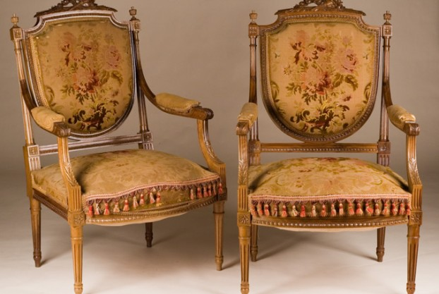 Pair of Antique Fruitwood Chairs