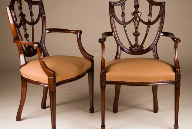 Pair of Hepplewhite Style Chairs