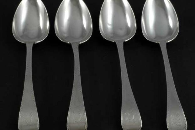Georgian Silver Serving Spoons By Thomas Wallis