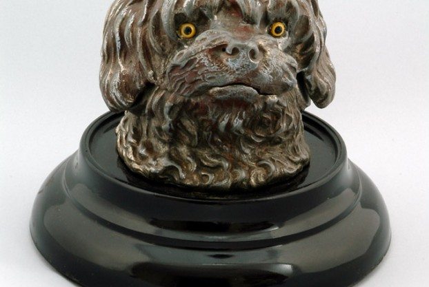 Dog Head Antique Inkwell