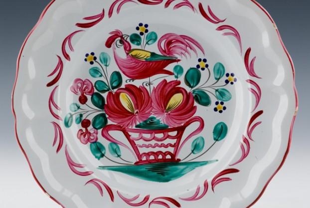 Antique Faience Plate