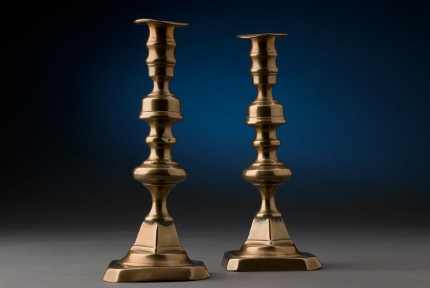 Pair of 9 1/2″ Brass Candlesticks