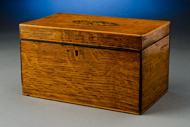 English Walnut Tea Caddy