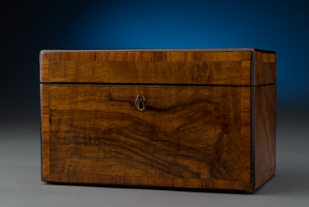 Figured Walnut Tea Caddy