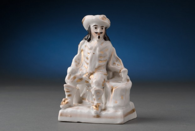 Porcelain Cavalier Inkstand