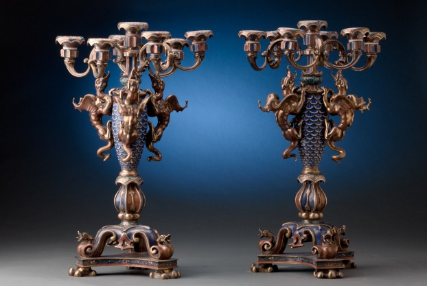 19th Century Chinese Candelabra
