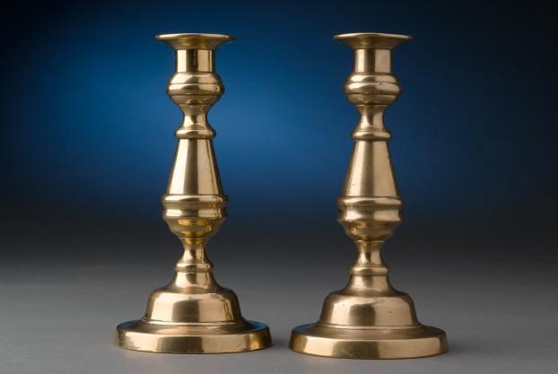 Round Based Brass Candlesticks