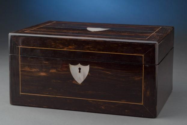 English Rosewood Sewing Box