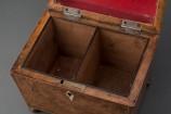 Burl Elmwood Tea Caddy Interior