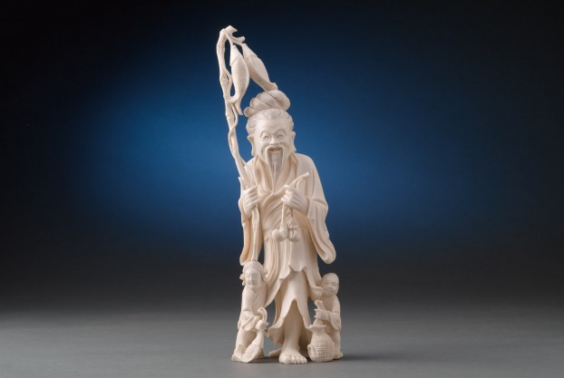 Ivory Carving of Fisherman
