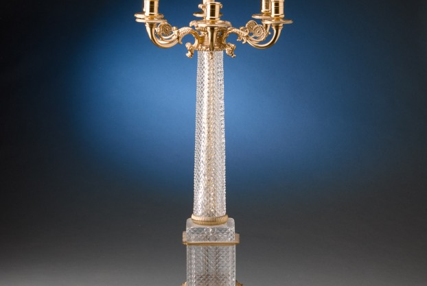French Cut Crystal Candelabra