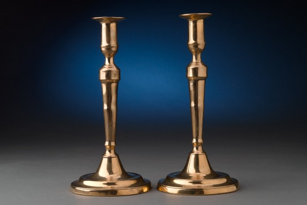 "10½"" Brass Candlesticks"