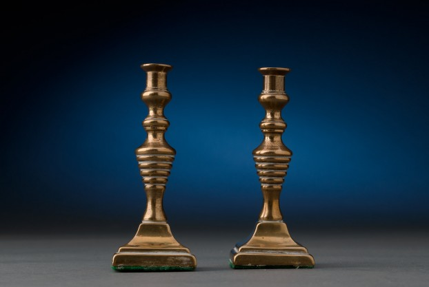 """3 ½"""" Brass Candlesticks"""