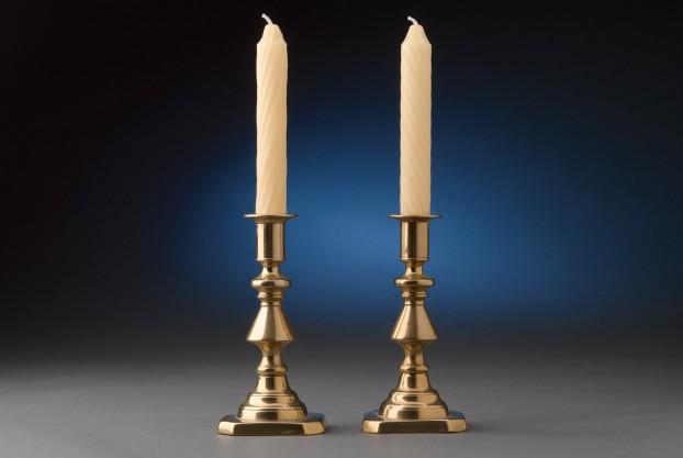 "6 ½"" English Brass Candlesticks"