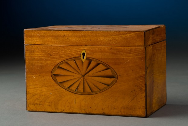 Satinwood English Tea Caddy