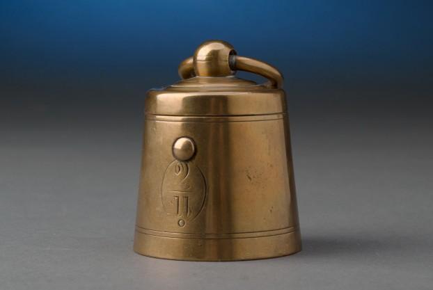 English Brass Weight Inkwell