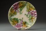 Antique Majolica Grape Plates