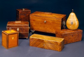 Group of Various Tea Caddies