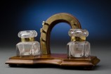 Two Bottle Horseshoe Ink Stand