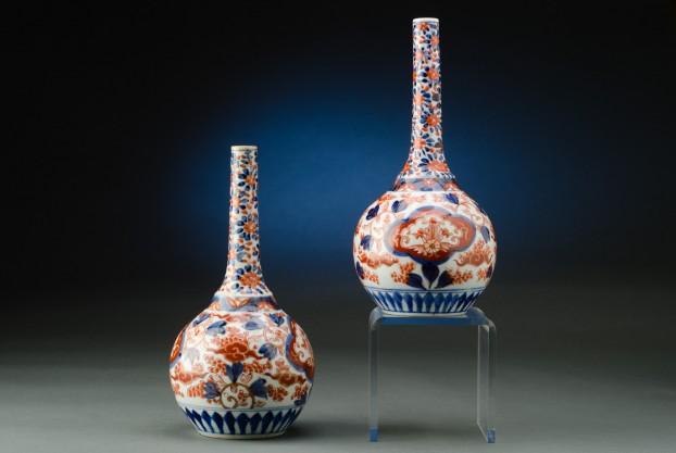 """Pair of 9½"""" Imari Vases"""