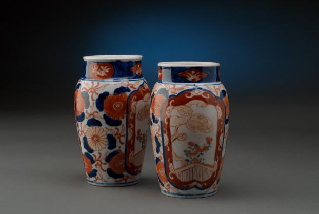 """Pair of 6½"""" Imari Vases"""