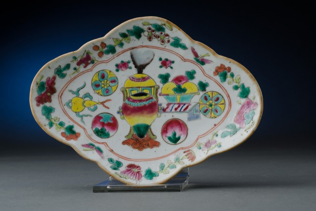 Famille Rose Goose Plate