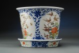 Chinese Floral Flower Pot