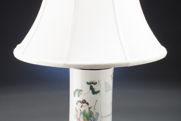 Polychrome Wig Stand Lamp