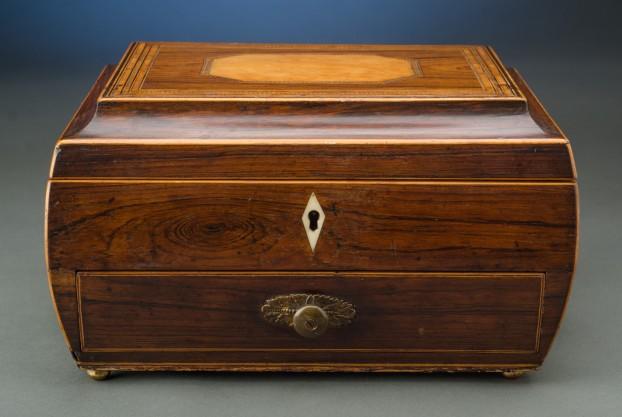 Bombé Shaped Rosewood Box