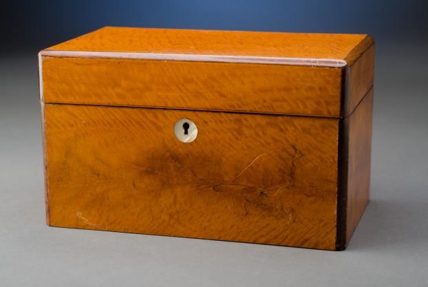 Inlaid Satinwood Tea Caddy