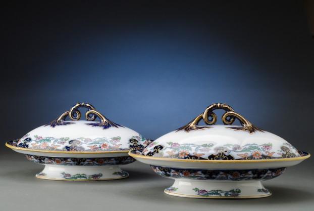 Pair of Ashworth Ironstone Entree Dishes with Covers