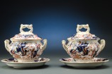 Pair of Copeland & Garrett Sauce Tureens