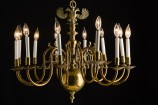 Twelve Light Double Eagle Chandelier