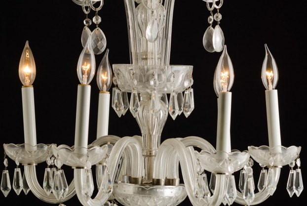Candy Cane Top Crystal Chandelier