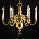 Brass Chandelier from Denmark