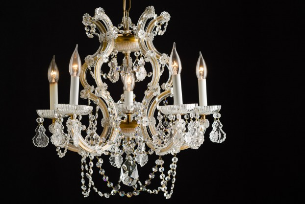 Crystal and Brass Maria Theresa Chandelier