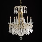 Six Light Chandelier Dripping With Crystals