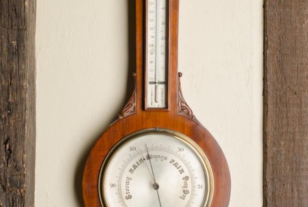 Carved Banjo Barometer