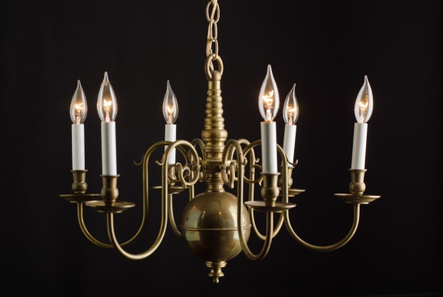 Danish Six-Lite Chandelier